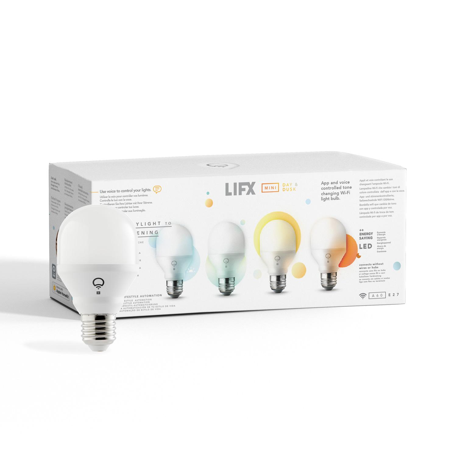 LIFX Snjallpera Mini Day and Dusk E27 WIFI 800lm 9W (4 pack)